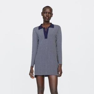 Zara Logo Polo-Style Mini Dress